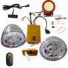 主机防水防尘密封18只LED走马灯闪的士高音箱MP3防盗报警摩托车音
